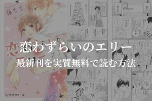 【最新刊11巻】漫画『恋わずらいのエリー』を実質無料で読む方法を紹介する