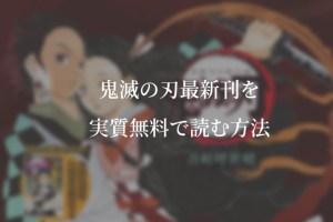 【最新刊17巻】漫画『鬼滅の刃』を実質無料で読む方法を紹介する