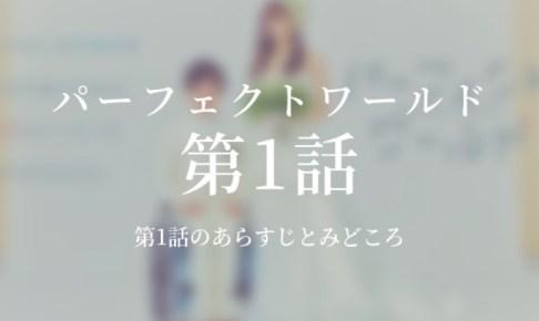 パーフェクトワールド|1話ドラマ動画無料視聴はこちら【4月16日放送】