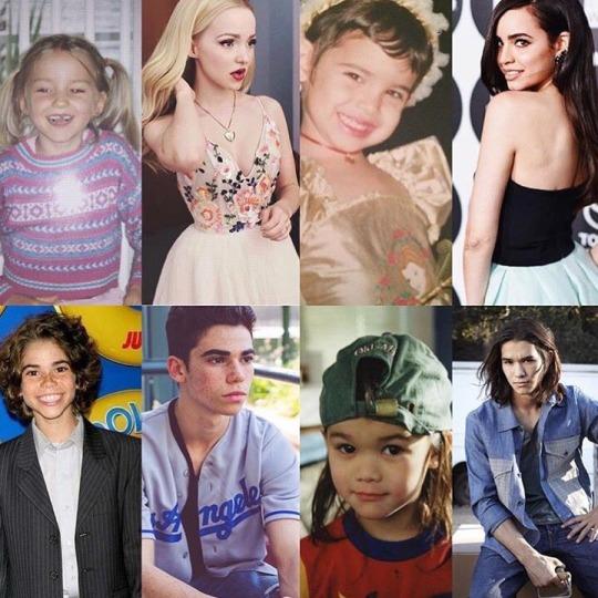 Descendants Cast the Core Four then and now Disney