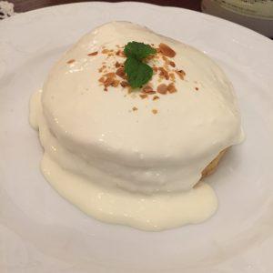 塩クリームチーズのパンケーキ