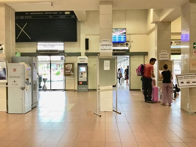 アテネ中央駅の内部
