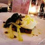 INSALATE: Bruschetta of beautiful italian greens, mozzarella di bufala Campana, chili, capers and Selvapiana