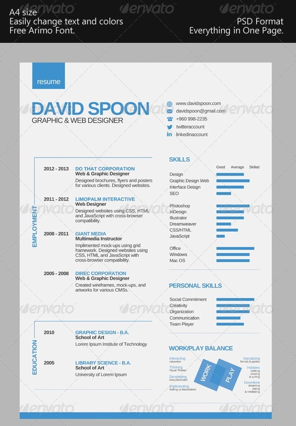 awesome resume cv templates 56pixels com