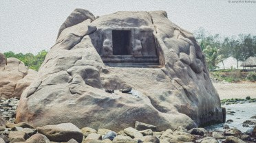 Mahabalipuram - Unfinished Rock Cut Temple (Front View)