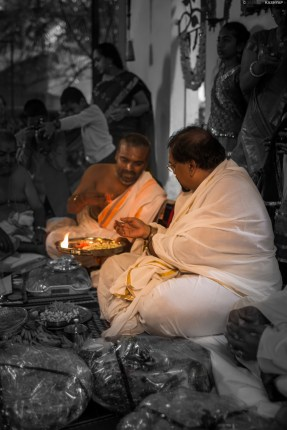 Rituals by the bride's father!