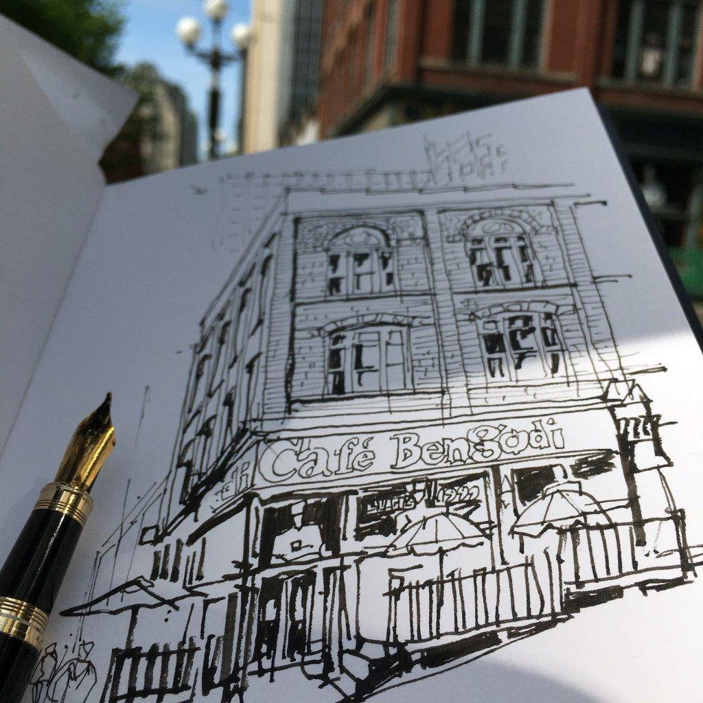 Seattle Sketcher Gabi Campanario sketches our building