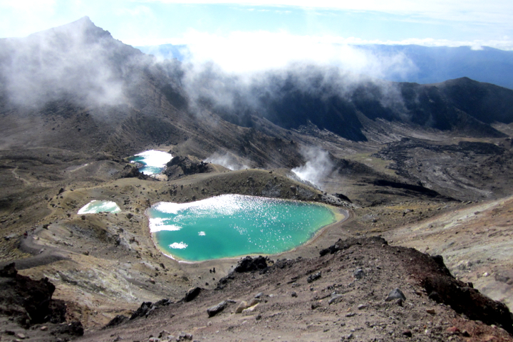 58GradNord - Elternzeit in Neuseeland - Emerald Lakes Tongariro Alpine Crossing