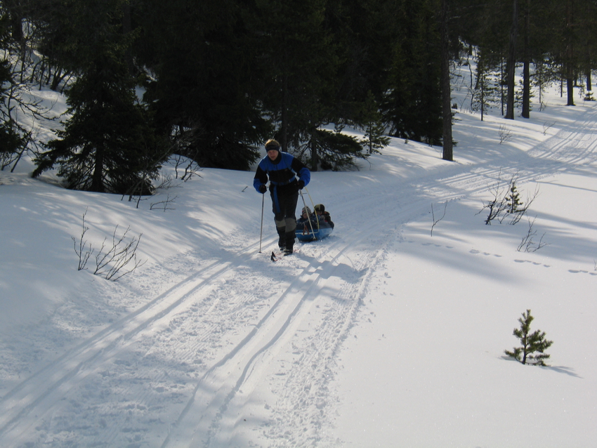 Skifahren in Schweden - Pulpa im Schnee