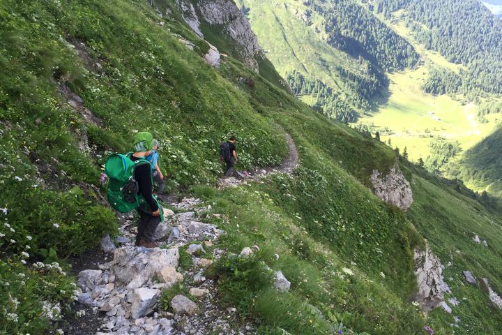 58GradNord - Karnischer Höhenweg - Abstieg zum Hochweißsteinhaus