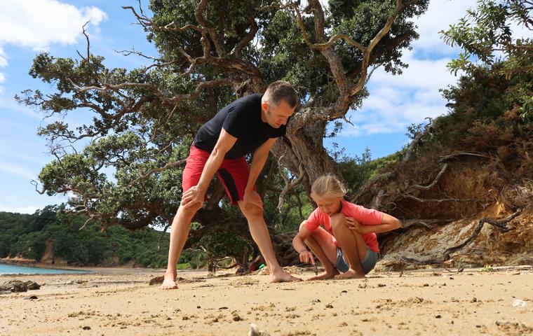 58 Grad Nord - Familienauszeit - Rotoroa Island - Mathe am Strand