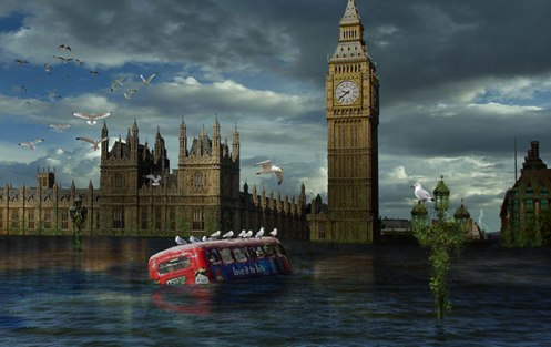 London-under-rising-sea-level-end-of-the-world-Ron-Miller