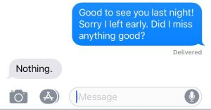 A text between me and a buddy