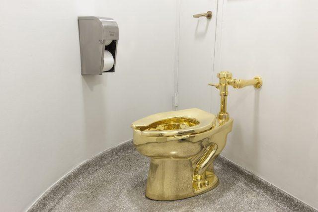 Golden Toilet at a Rental Property