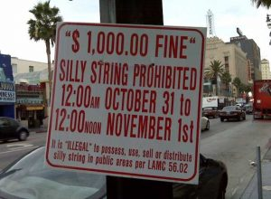 banned silly string