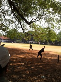 Cricket is a popular game in India.