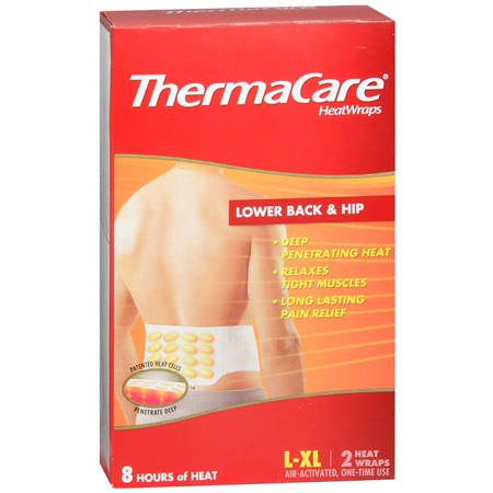 ThermaCare Air-Activated Heatwraps Low Back & Hip, Large/Extra Large 2 ea