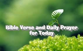 Bible Verse and Daily Prayer for 14 October 2021