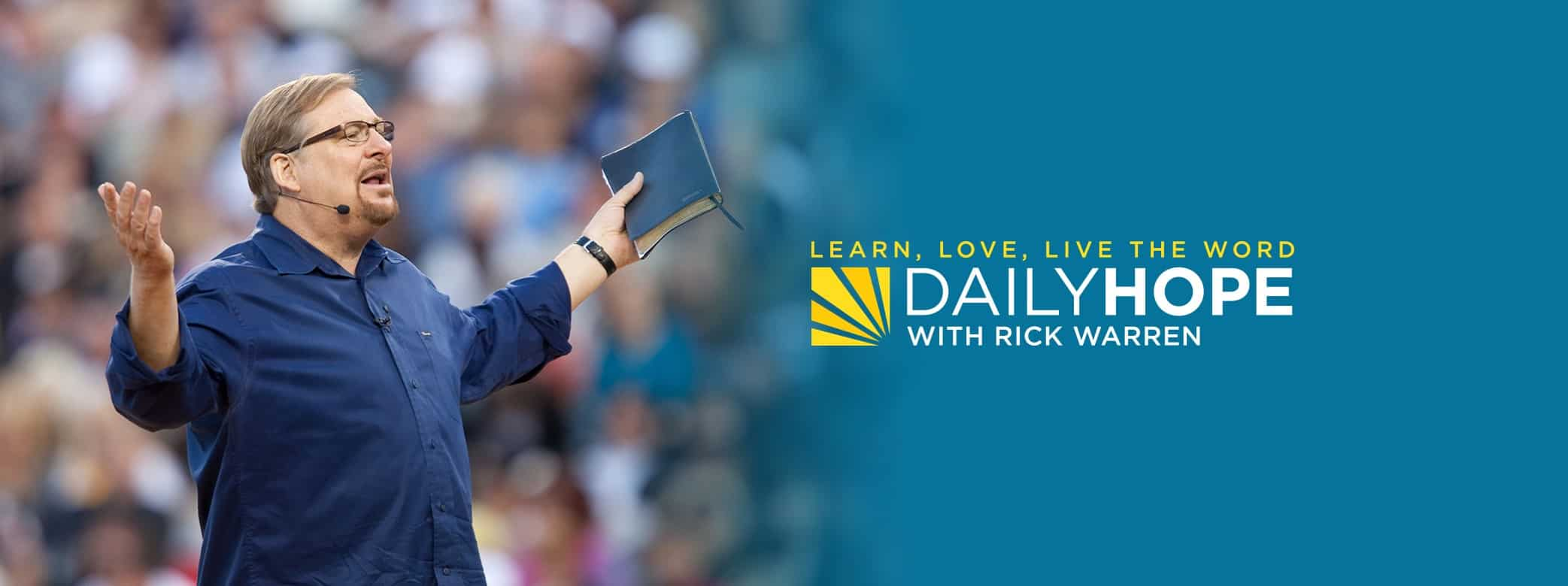 Daily Hope with Rick Warren Devotional 31 March 2021
