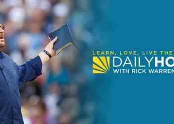 Rick Warren Devotional 21 September 2021 Daily Hope