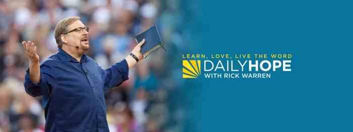 Rick Warren Daily Devotional 22 July 2021