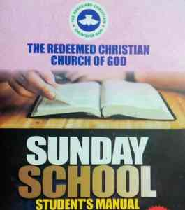 RCCG Sunday School Student Manual 6th June 2021 – Lesson 40