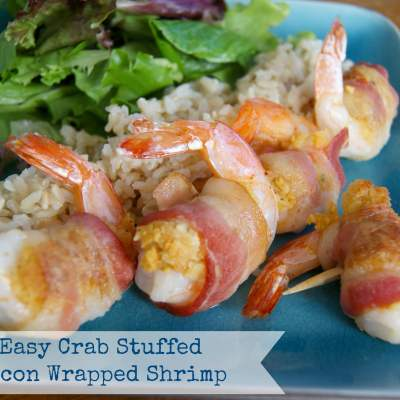 Easy Crab Stuffed Bacon Wrapped Shrimp