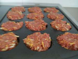mini honey mustard meatloaves raw
