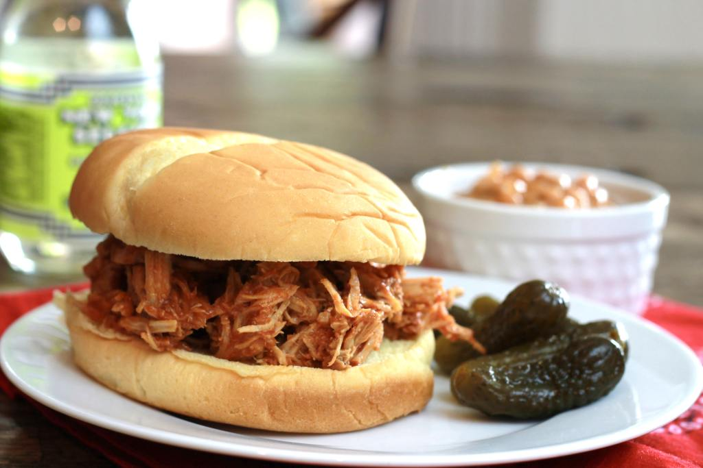 Slow Cooked Pulled Pork Sloppy Joes - So tender and full of flavor. Almost effortless dinner recipe. | 5dinners1hour.com