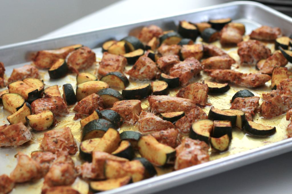 Zesty Chicken UnKebobs - Super easy and fast, roasted in the oven.   5dinners1hour.com