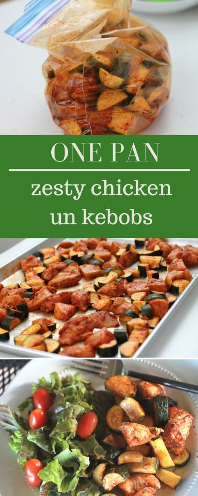Zesty Chicken UnKebobs - Super easy and fast, roasted in the oven. | 5dinners1hour.com