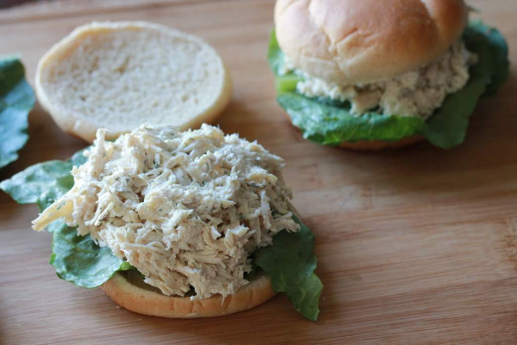 Slow Cooked Chicken Caesar Sandwiches. I made a huge batch of these for a party and they were a hit! Everyone wanted the recipe. | 5dinners1hour.com
