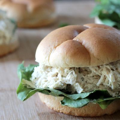 Slow Cook Chicken Caesar Sandwiches