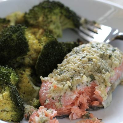 Keto Low Carb Parmesan Salmon