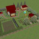 Үйдің орналасуы 6 гектар жер учаскесінде