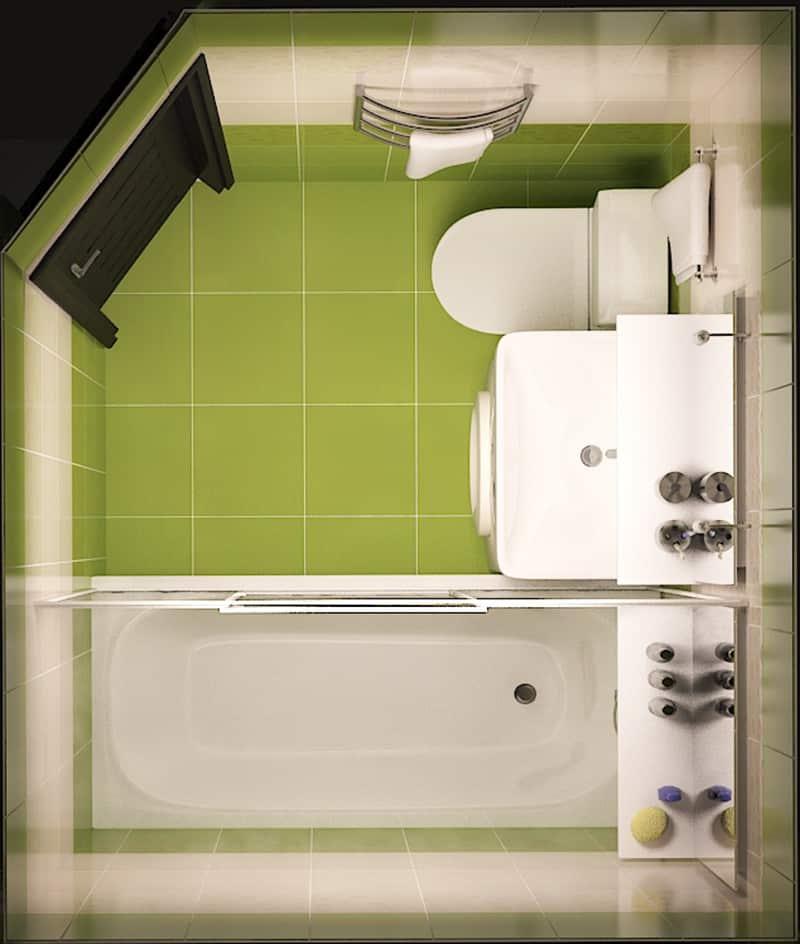 Ремонт в маленькой ванной в картинках