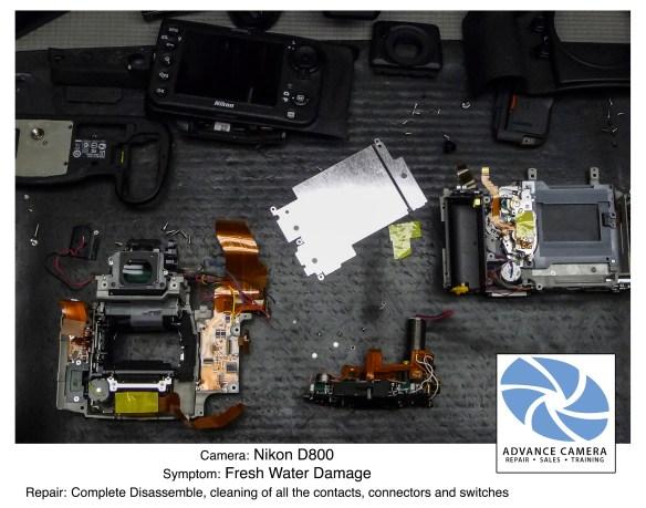 Nikon D800 – Fresh Water Damage