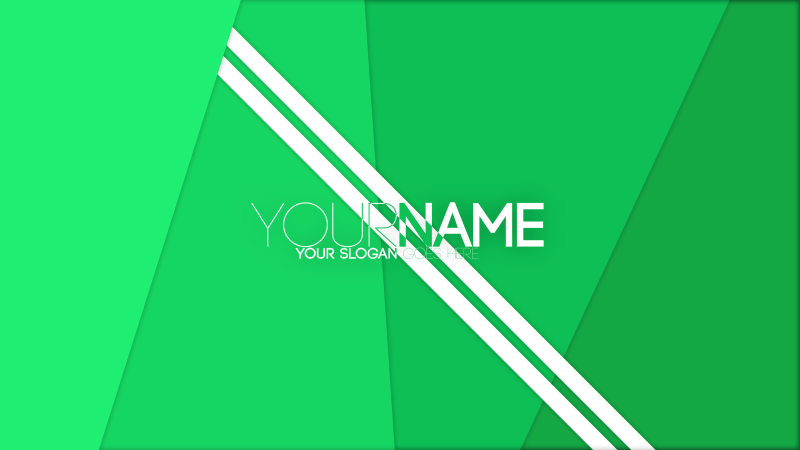 Green Gradient Banner