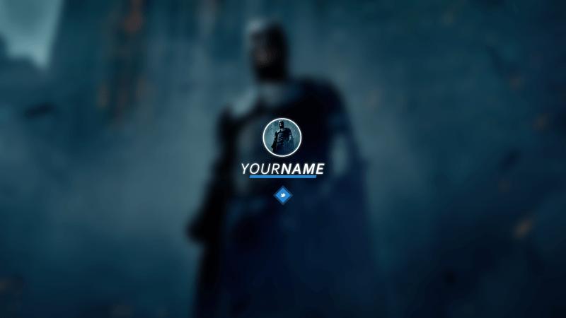 Blue Batman Banner