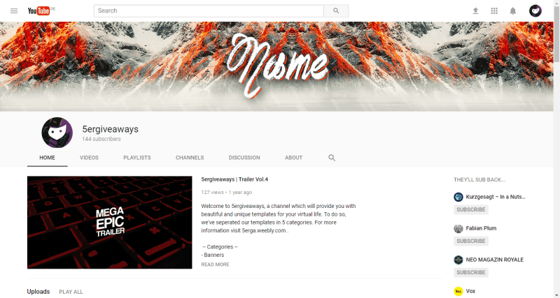 Snowy Banner Example