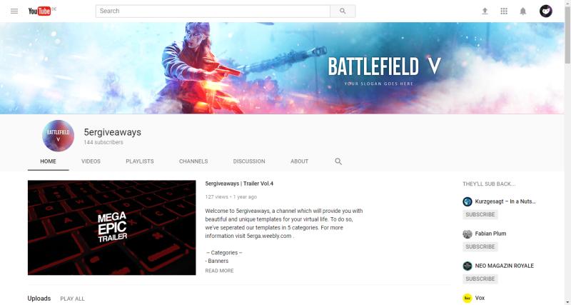Battlefield V Banner Example