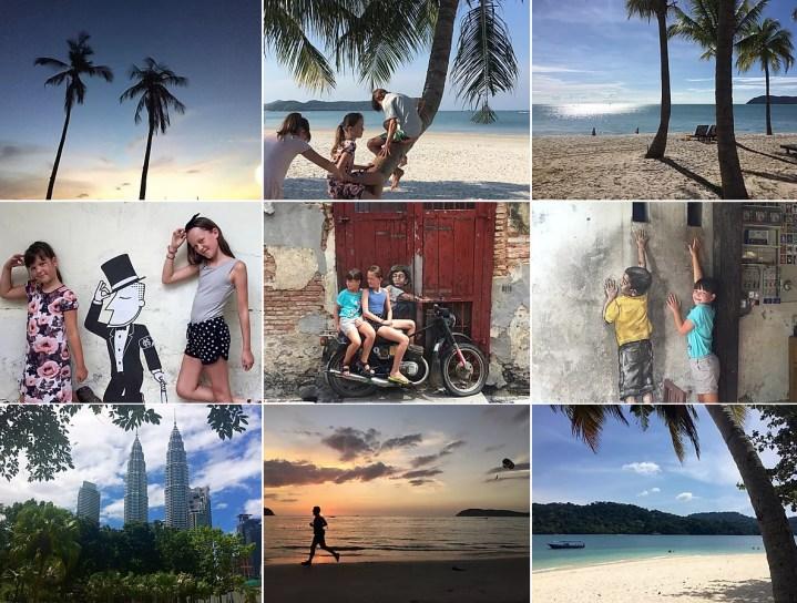 collage af billeder fra Malaysia
