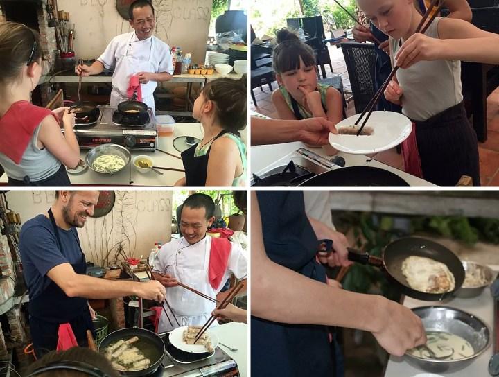 billeder af børn der laver mad på cooking class