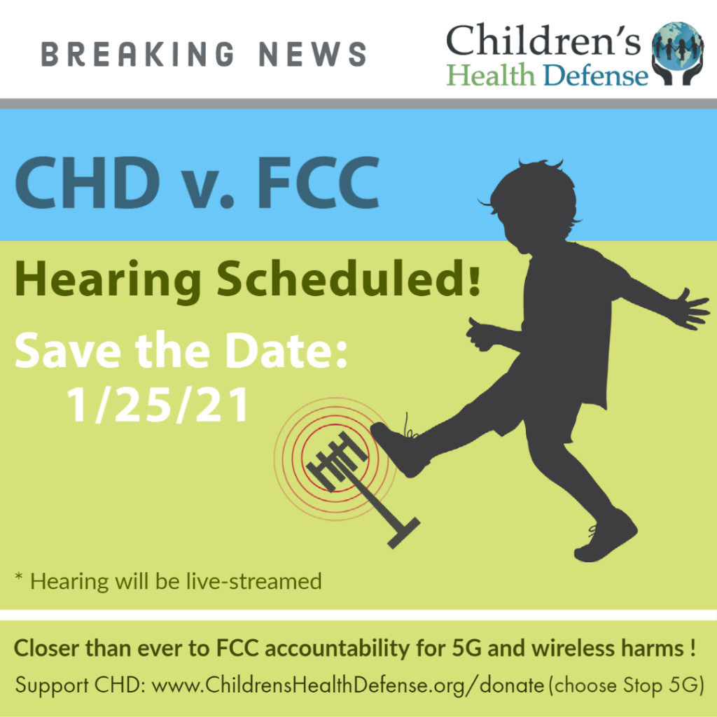 Breaking News! CHD v FCC Hearing Scheduled!  Hearing will be live-streamed.  Save the Date: 1/25/21