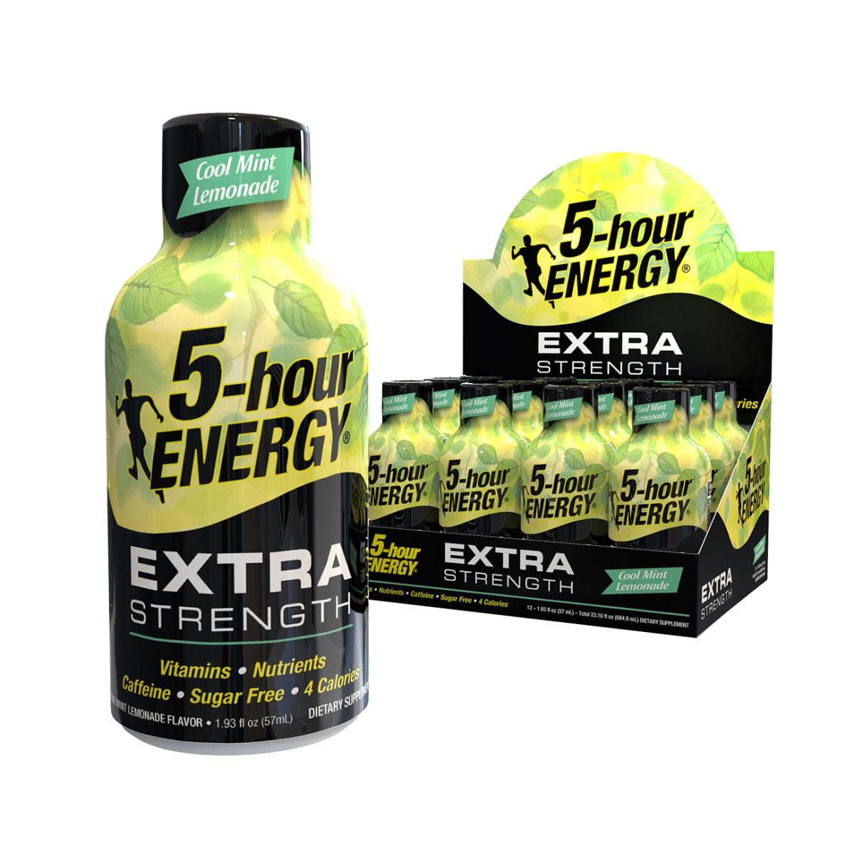 Cool Mint Lemonade flavor Extra Strength 5-hour ENERGY® Shots