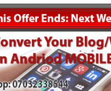 I WILL CONVERT YOUR BLOG/WEBSITE INTO MOBILE APP