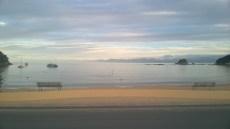 Unusual sight: an empty Kaiteriteri Beach