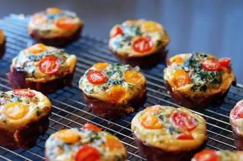 Spinach Quiche Muffins
