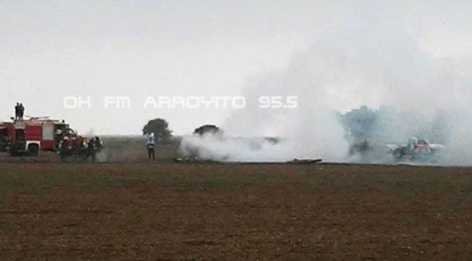 Se estrelló un avión de la Fuerza Aérea Argentina