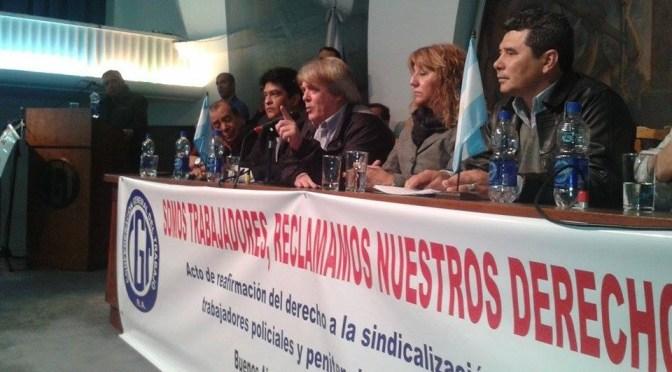 CGT apoyo a la sindicalización de las Fuerzas de Seguridad